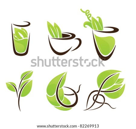 vector collection of eco drink - stock vector