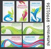 vector collection of ecological business cards - stock vector