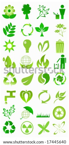 vector collection of ecological icons