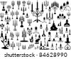 Vector collection of isolated candlesticks - stock vector
