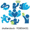 vector collection of money,office work and business team - stock vector