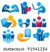 vector collection of office work and business team - stock vector