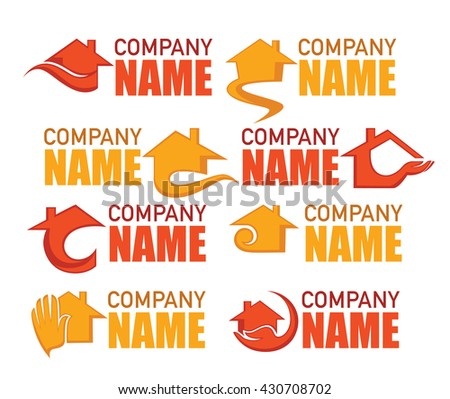 vector collection of property and real estate logo and emblems - stock vector