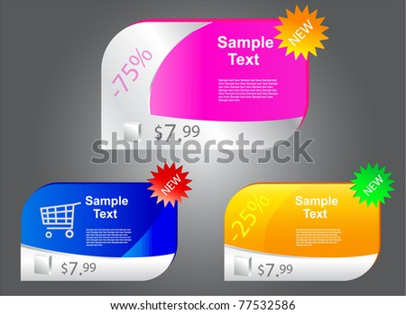 Vector collection of sale banners - stock vector