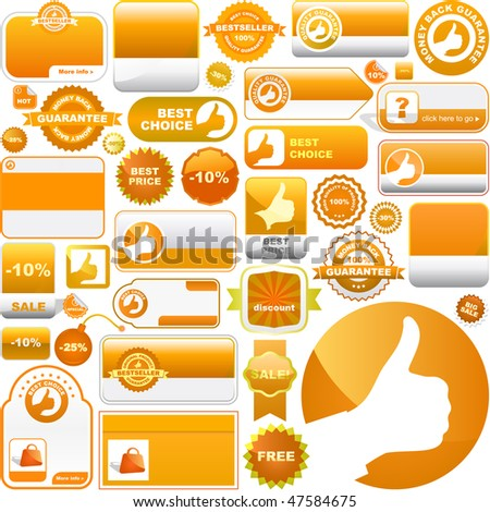 Vector collection of sale signs - stock vector