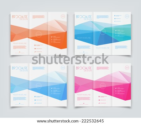 Vector Collection Trifold Brochure Design Templates Stock Vector - Tri fold brochure design templates