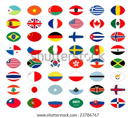 vector collection of world flags