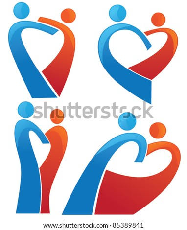 vector collection the symbol of love - stock vector