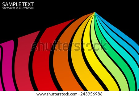 Vector color abstract colorful background template - Vector colorful abstract curved   background illustration - stock vector