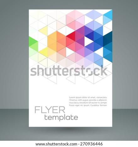 Flyer Design Geometric Patterncorporate Banner Brochure – Geometric Flyer Template