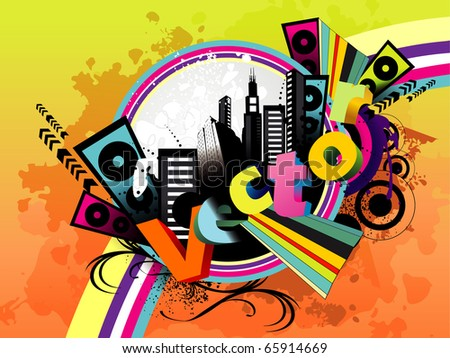 vector color abstract illustration