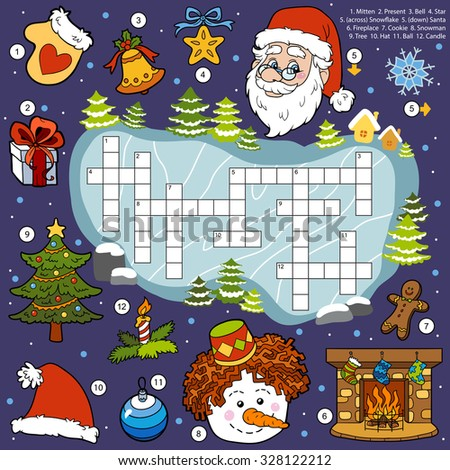 Crossword Santa Claus Amp Santa Claus Crossword Royalty Free