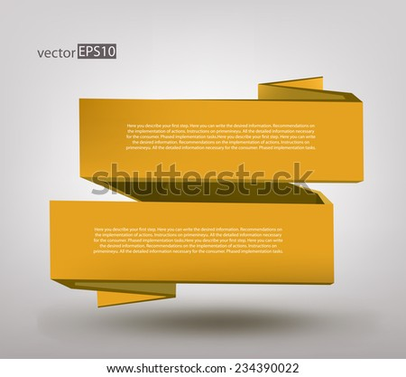 vector color 3d geometric shaped on gray background