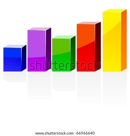 vector color diagram with a shadow - stock vector