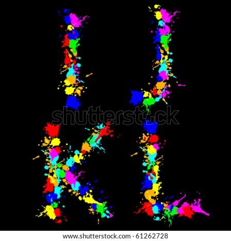 Splattered Paint Black Letters G