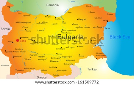 vector color map of Bulgaria country