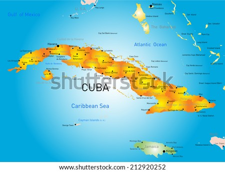 Vector color map of Cuba country