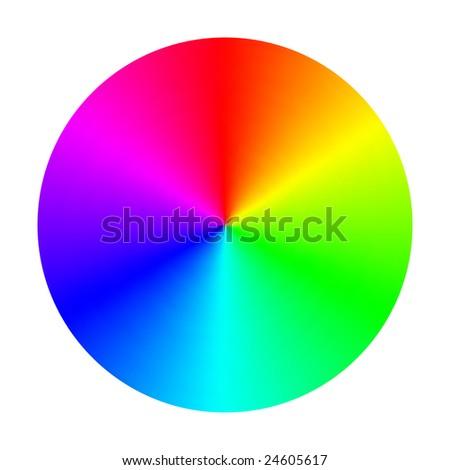 Vector Color Spectrum Wheel - stock vector