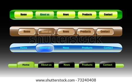 Vector color website designs - stock vector