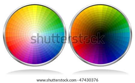 Vector Color Wheels with 864 patterns. See my portfolio for more color wheels. - stock vector