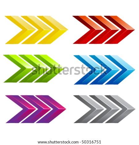 vector colored arrows - stock vector