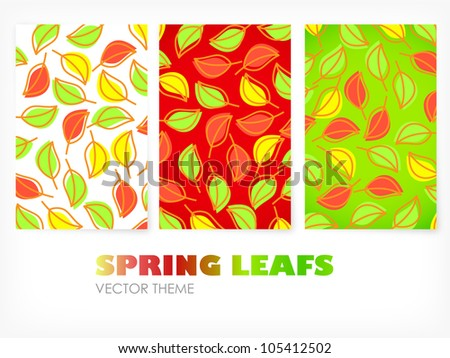 Vector - colored banners with leafs - stock vector