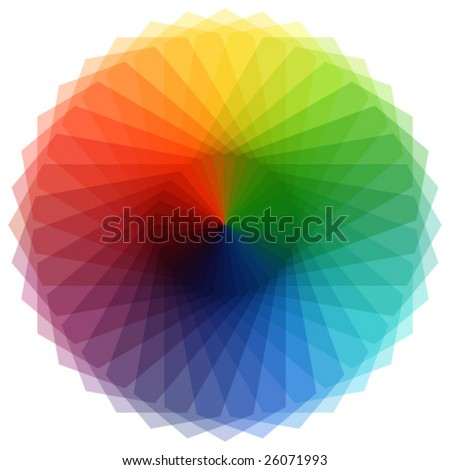 Vector colored element - stock vector