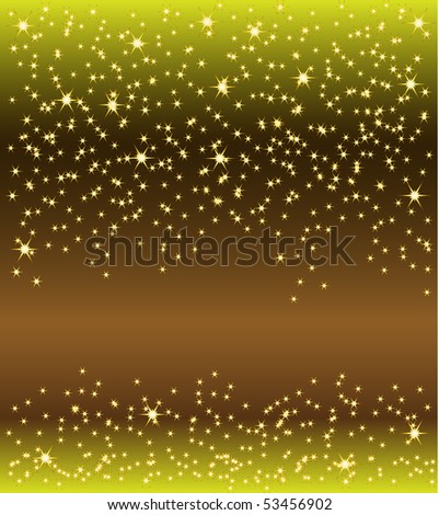 Vector. Colored falling down stars background template.