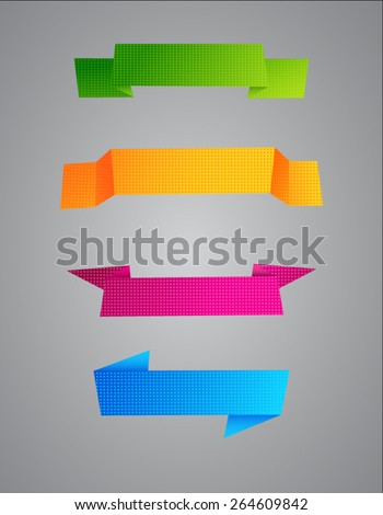 Vector colored grainy ribbons on a gray background  - stock vector