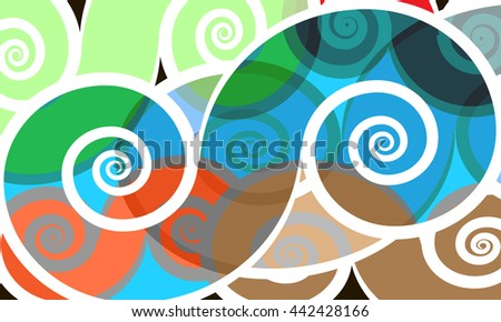 vector  colored swirly background - stock vector