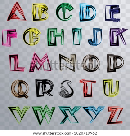 Vector Colorful A Z Alphabet Exclusive Custom Letters Lettering And Typography For Designs