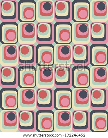 Vector Colorful abstract retro seamless geometric pattern - stock vector