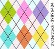 Vector colorful argyle - stock vector