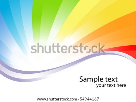 Vector colorful background; clip-art - stock vector