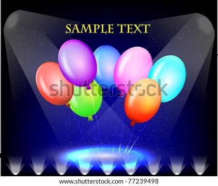 Vector colorful balloons. - stock vector