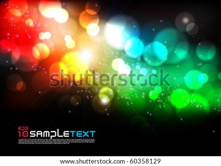 Vector Colorful Blurry Lights - stock vector