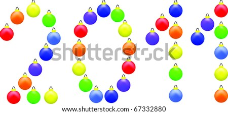 Vector colorful Christmas balls