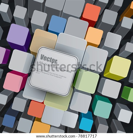 Vector Colorful Cubes - stock vector