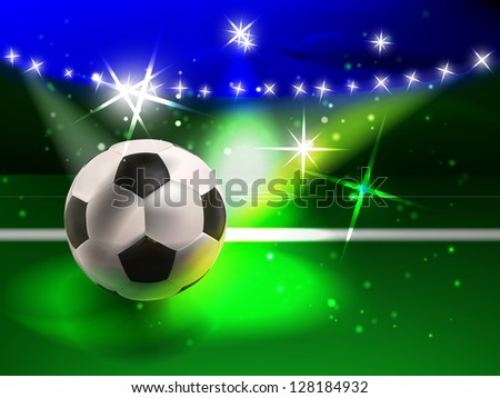 vector colorful football concept, eps10 vector, gradient mesh and transparency used - stock vector
