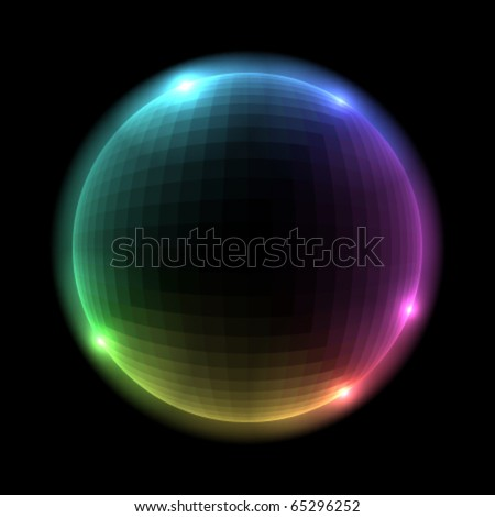 Vector Colorful Glowing sphere - stock vector