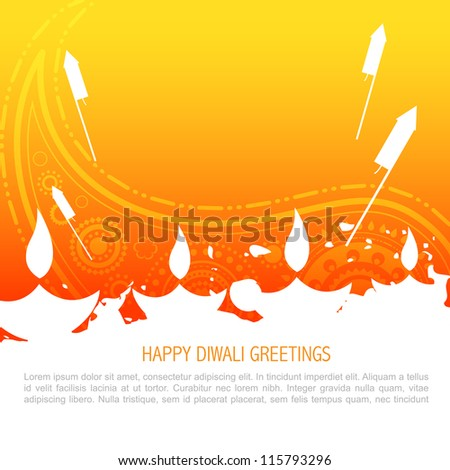 vector colorful happy diwali background - stock vector
