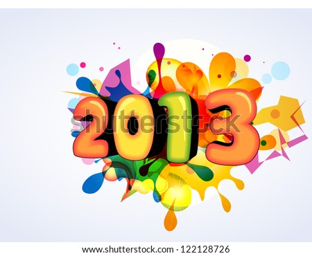 vector colorful happy new year design
