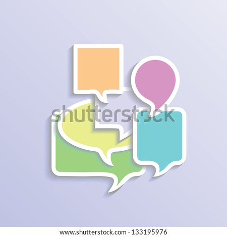 vector colorful illustration with speech bubbles  for your design - stock vector