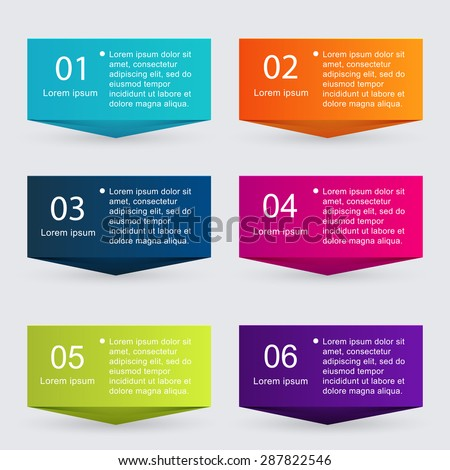 Vector colorful info graphics for your business presentations. Can be used  website layout  numbered banners, diagram, horizontal cutout lines, web design.  - stock vector
