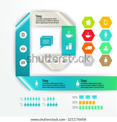 Vector colorful infographics for your business presentations. Can be used for info graphics, graphic or website layout vector, numbered banners, diagram, web design. - stock vector