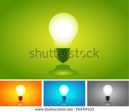 Vector Colorful Light Bulbs set. Graphic Design Editable For Your Design.  - stock vector