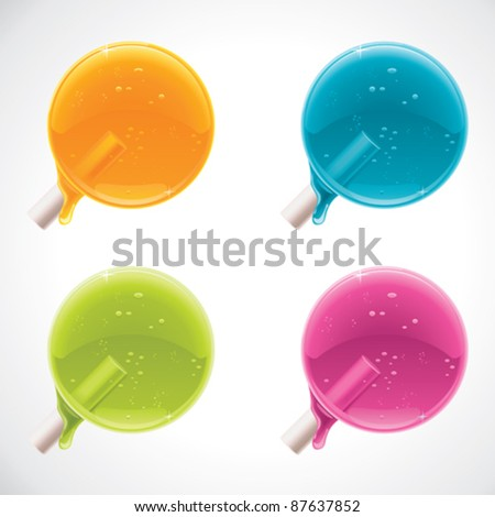 Vector colorful lollipops - stock vector