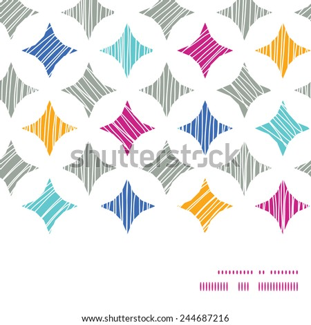 Vector colorful marble textured tiles horizontal frame seamless pattern background