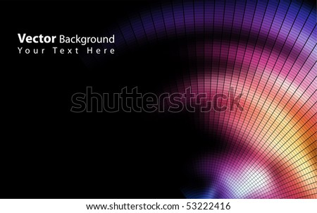Vector colorful mosaic background - stock vector