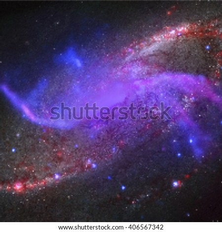 vector colorful realistic cosmos spiral Pyrotechnics galaxy with nebula and shining stars deep space background 